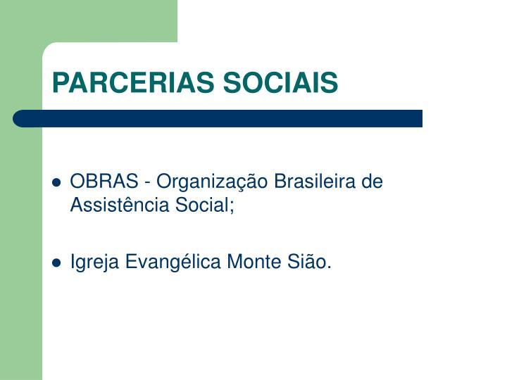 PARCERIAS SOCIAIS