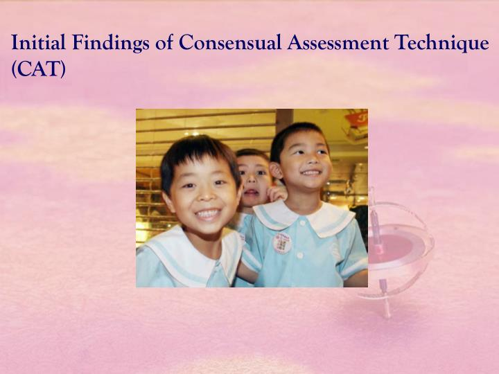 Initial Findings of Consensual Assessment Technique (CAT)