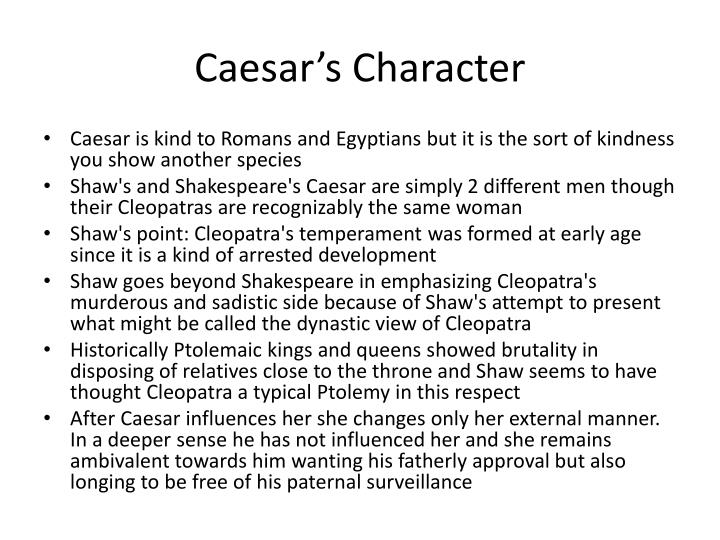Caesar's Character