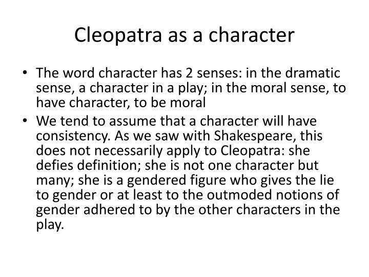 Cleopatra as a character