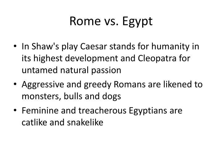 Rome vs. Egypt