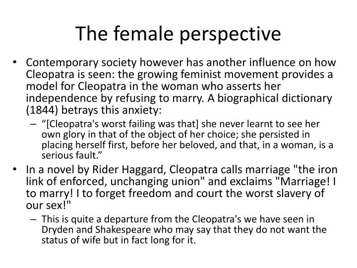 The female perspective