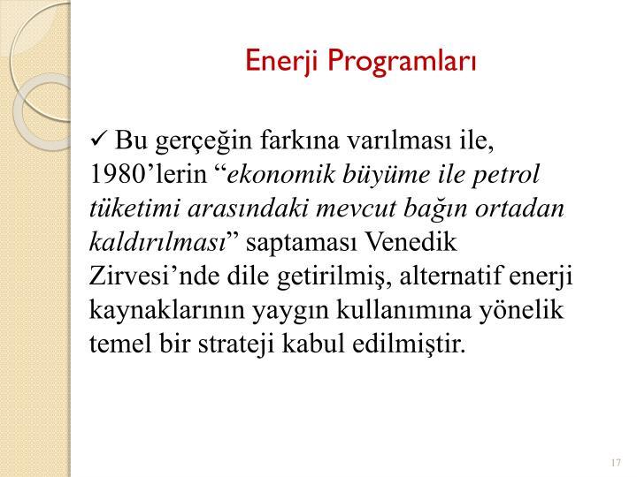 Enerji Programları
