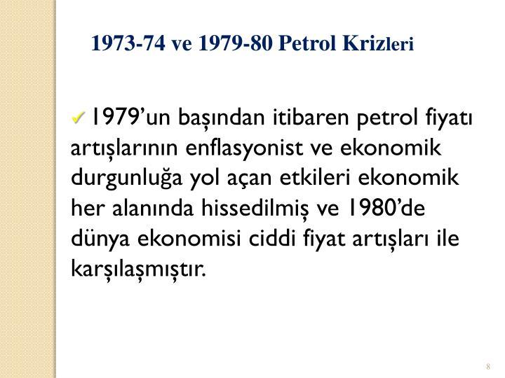 1973-74 ve 1979-80 Petrol Kriz