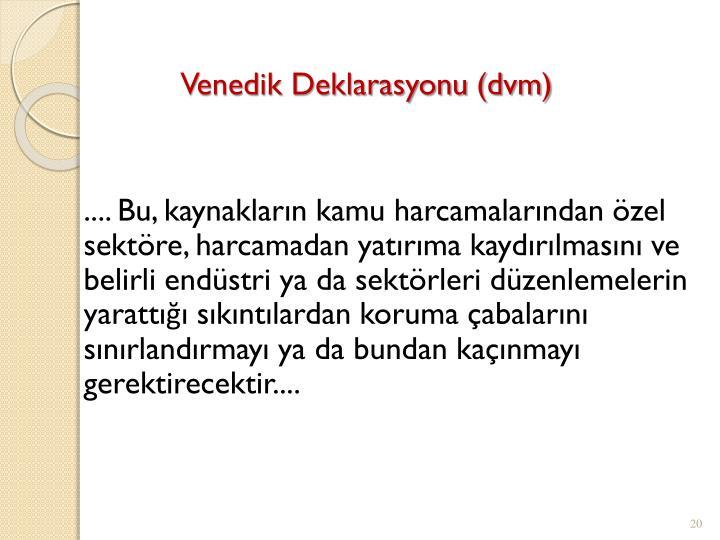 Venedik Deklarasyonu (dvm)