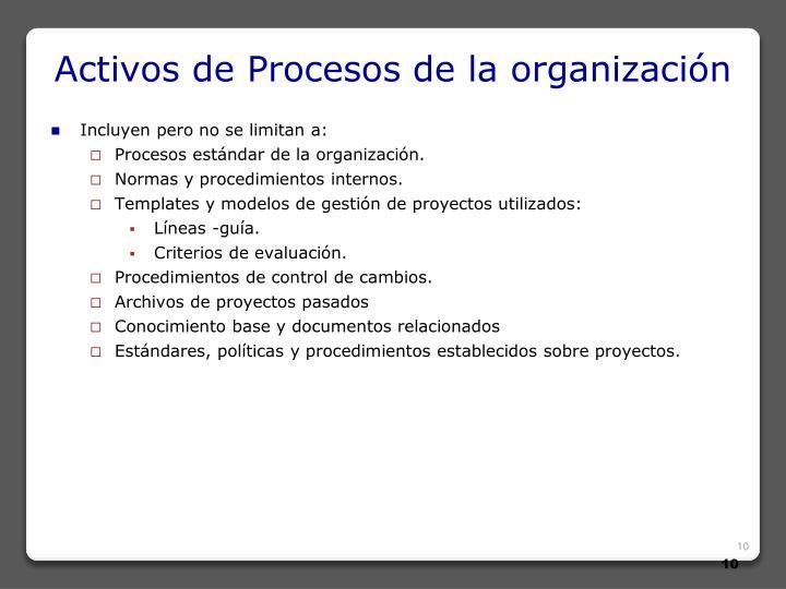 Activos de Procesos de la organización