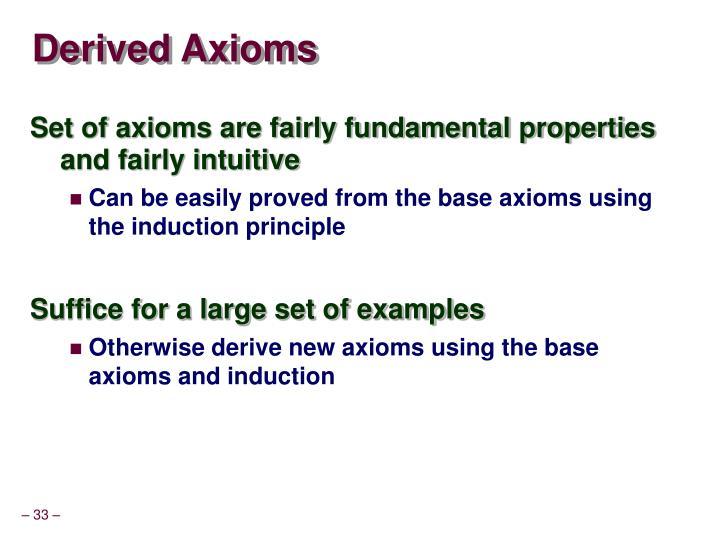 Derived Axioms