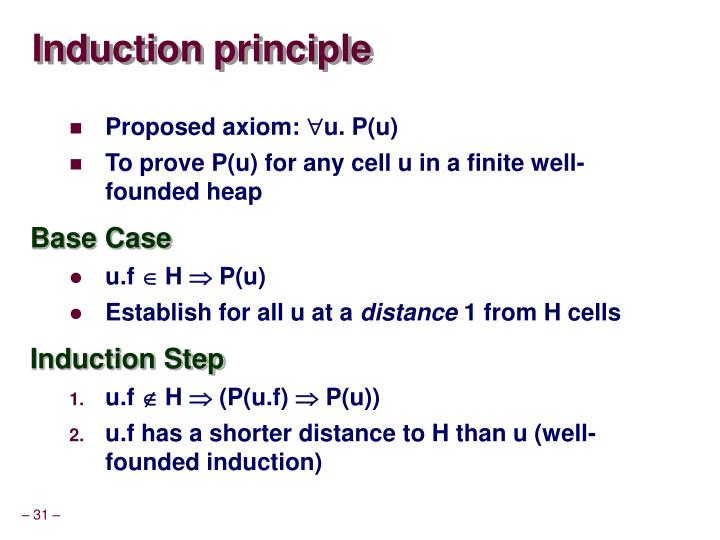 Induction principle