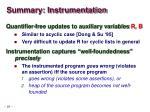 summary instrumentation