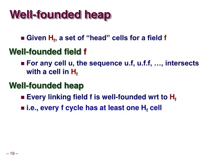 Well-founded heap