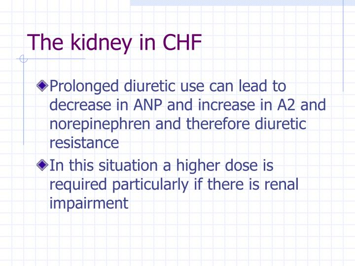 The kidney in CHF