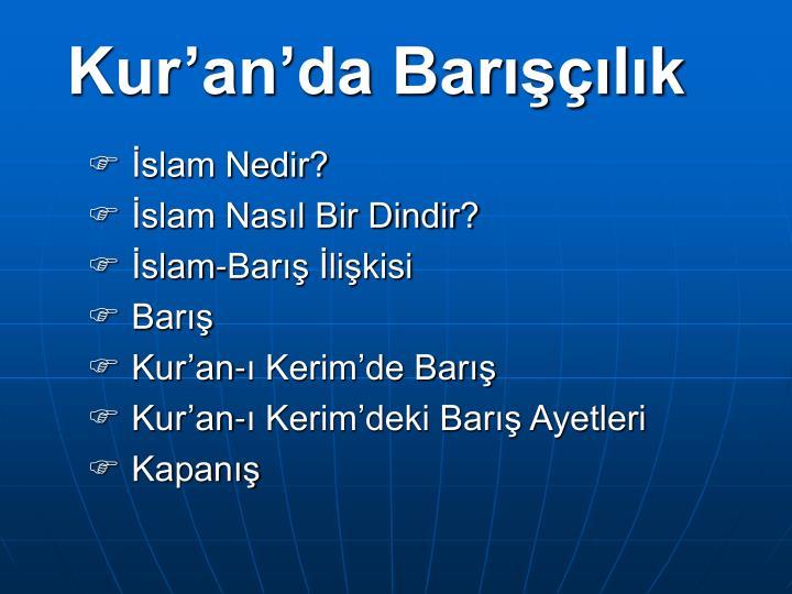 Kur'an'da Barışçılık