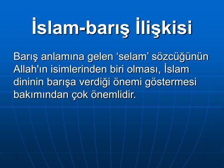 İslam-barış İlişkisi