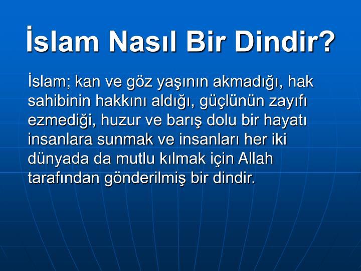 İslam Nasıl Bir Dindir?
