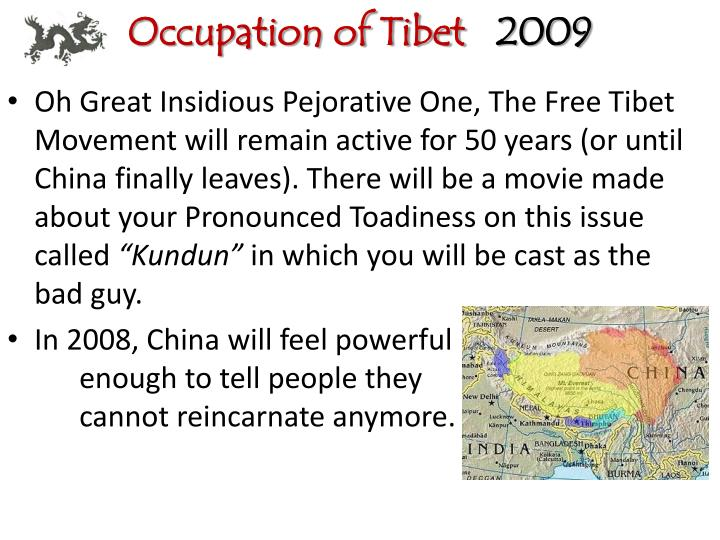 Occupation of Tibet