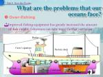 what are the problems that our oceans face