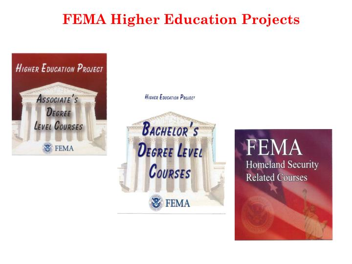 FEMA Higher Education Projects