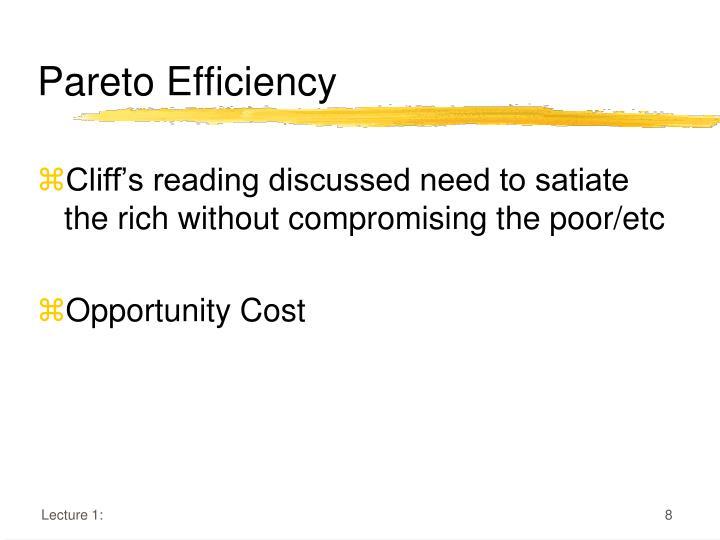 Pareto Efficiency