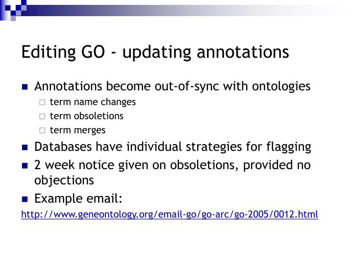 Editing GO - updating annotations