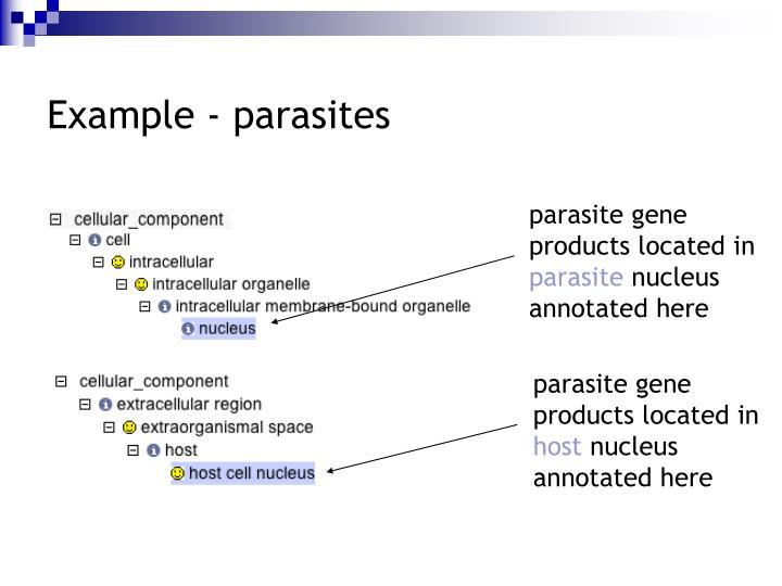 Example - parasites