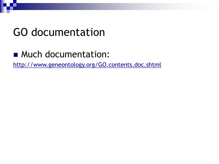 GO documentation