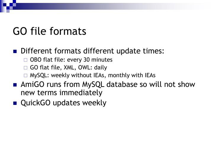 GO file formats