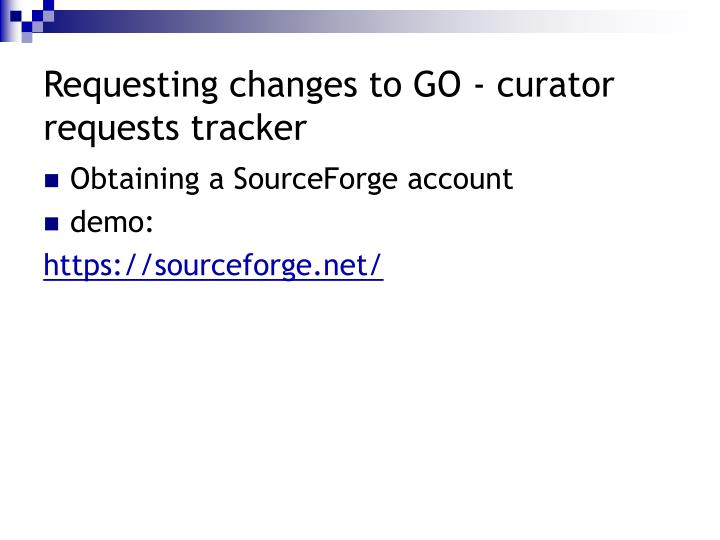 Requesting changes to GO - curator requests tracker