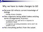 why we have to make changes to go6