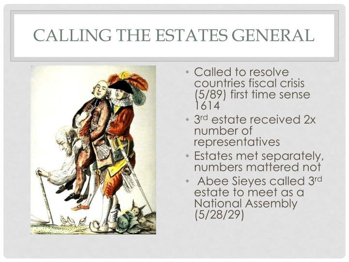Calling the Estates General