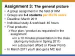 assignment 3 the general picture