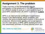 assignment 3 the problem