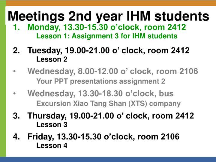 Meetings 2nd