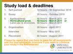 study load deadlines
