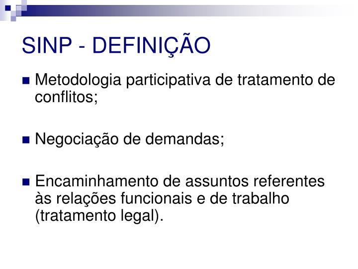 SINP - DEFINIÇÃO