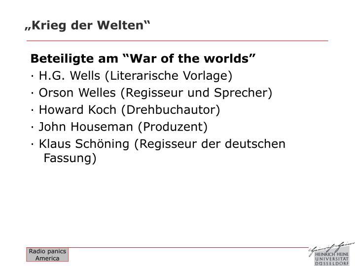 """""""Krieg der Welten"""""""