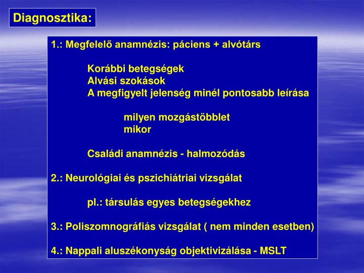 Diagnosztika: