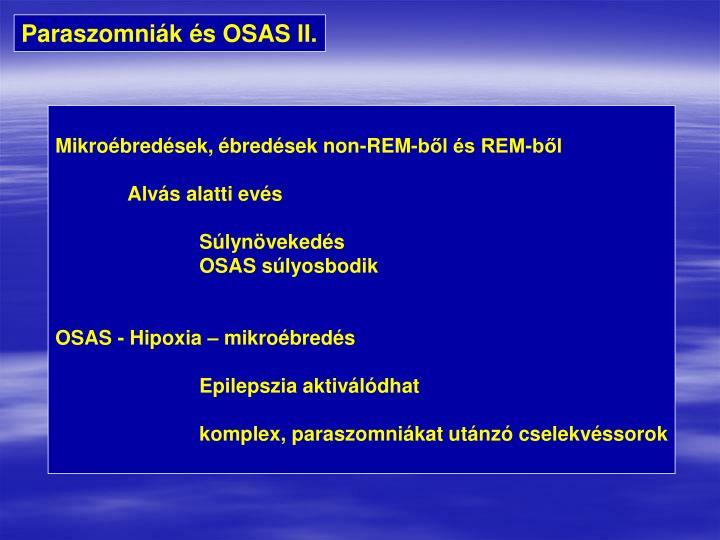 Paraszomniák és OSAS II.