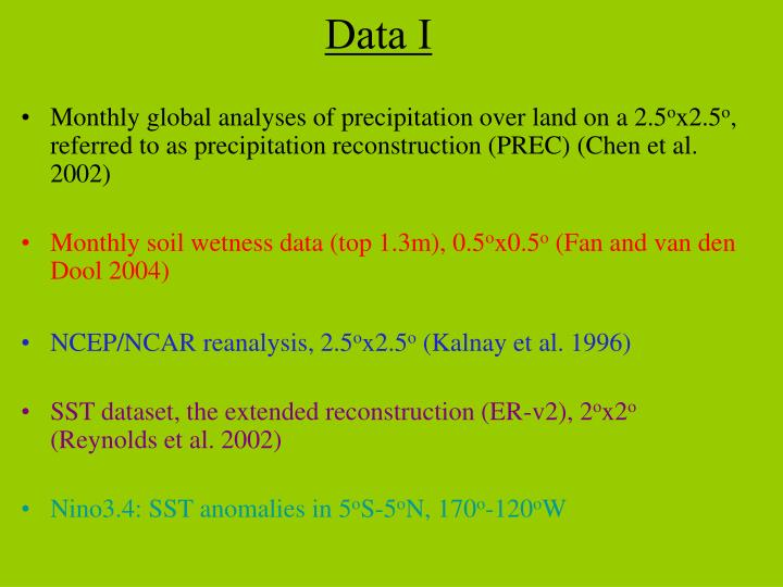 Monthly global analyses of precipitation over land on a 2.5