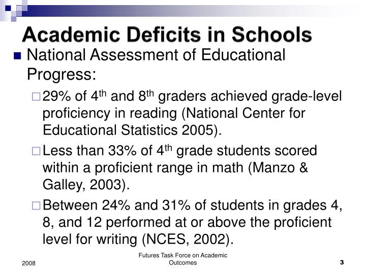 Academic Deficits in Schools