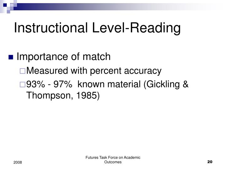 Instructional Level-Reading
