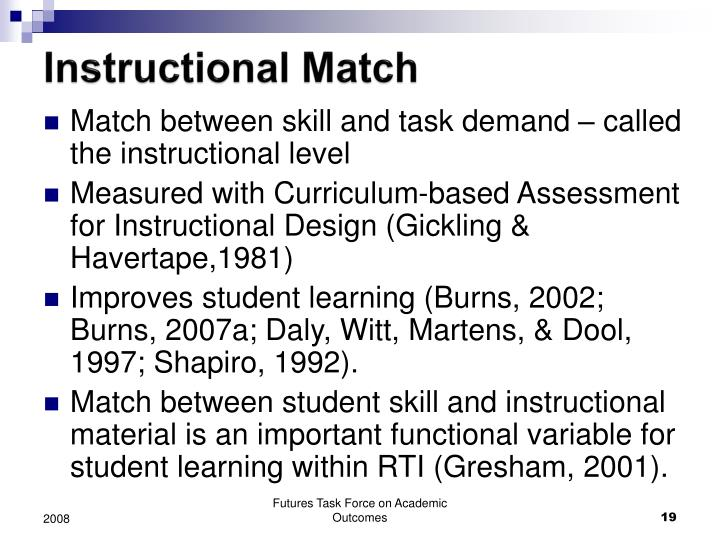 Instructional Match