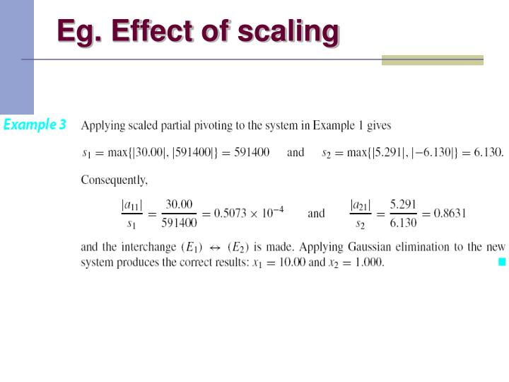 Eg. Effect of scaling