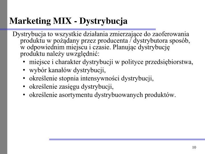 Marketing MIX - Dystrybucja