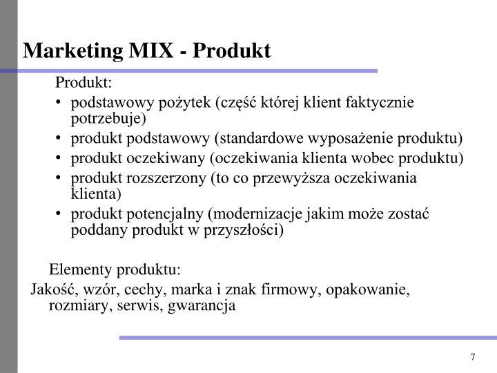 Marketing MIX - Produkt