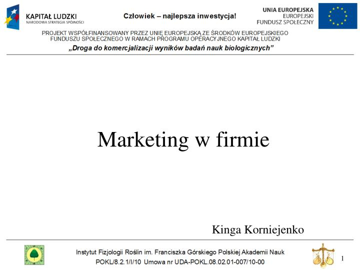 marketing w firmie