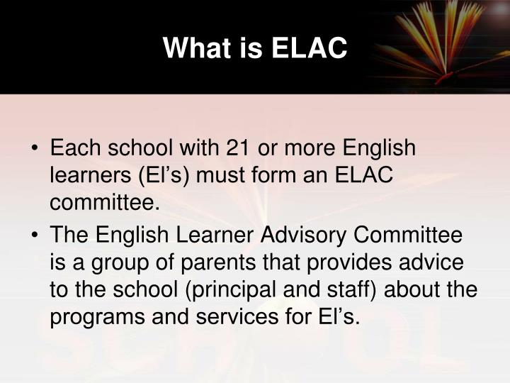 What is ELAC