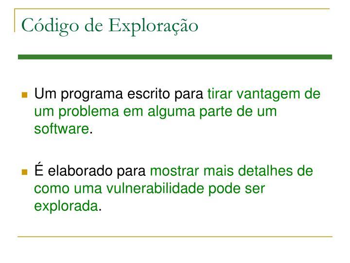 Código de Exploração