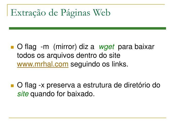 Extração de Páginas Web