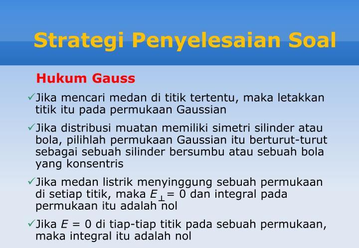 Strategi Penyelesaian Soal