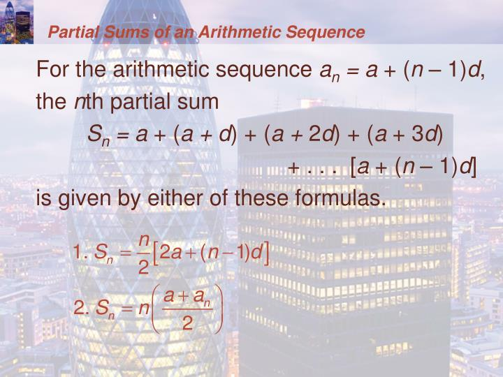 Partial Sums of an Arithmetic Sequence